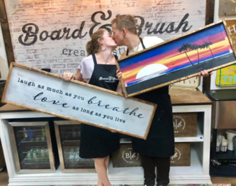 Board and Brush couple
