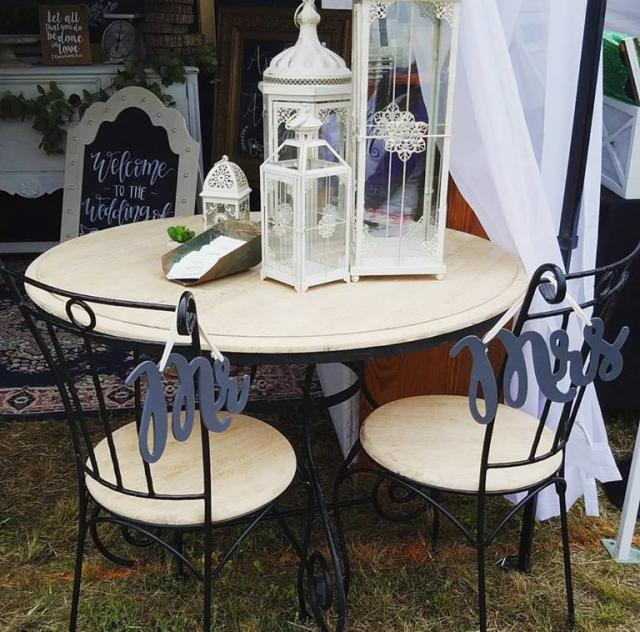 Something Borrowed Rentals - Table and Lanterns