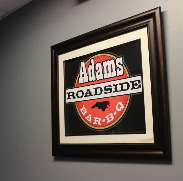 Adam's Roadside BBQ Sign