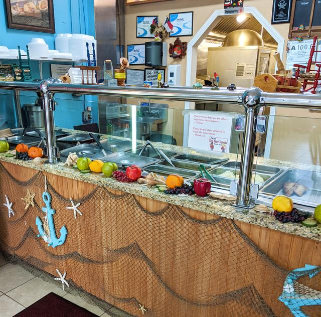Caribbean Delight counter