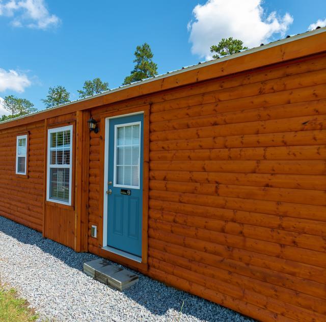 Raleigh Oaks cabin exterior
