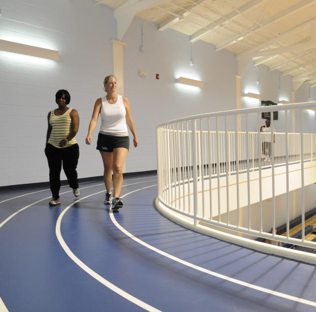 The Indoor Track at the Smithfield Recreation and Aquatic Center