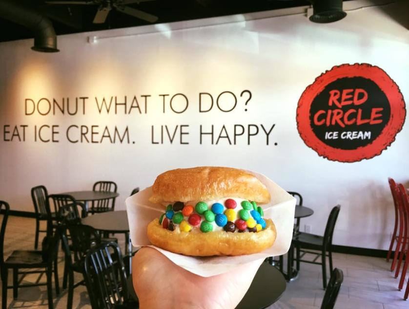Red Circle Ice Cream