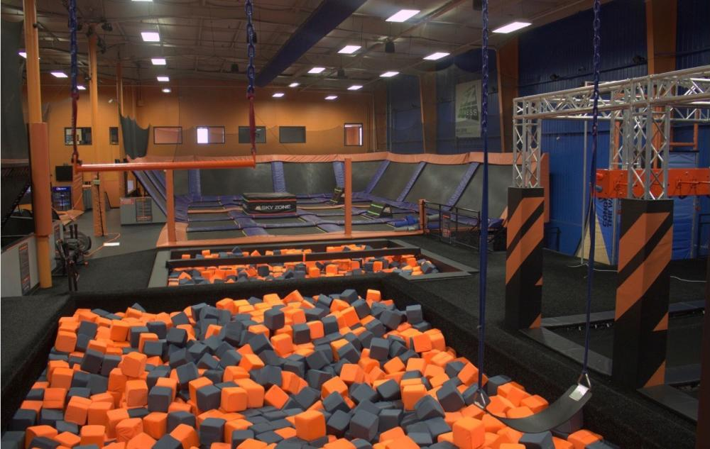 sky zone equipment