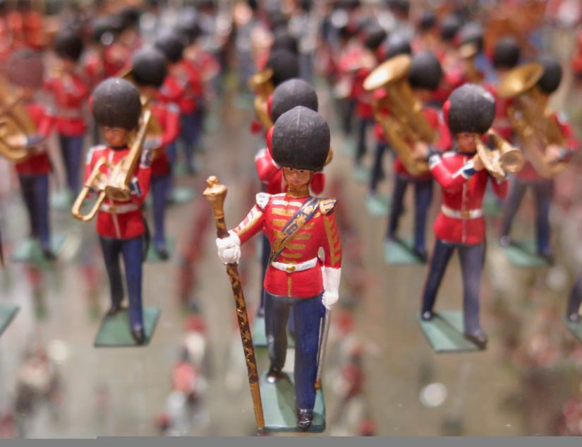 Collection of toy soldiers