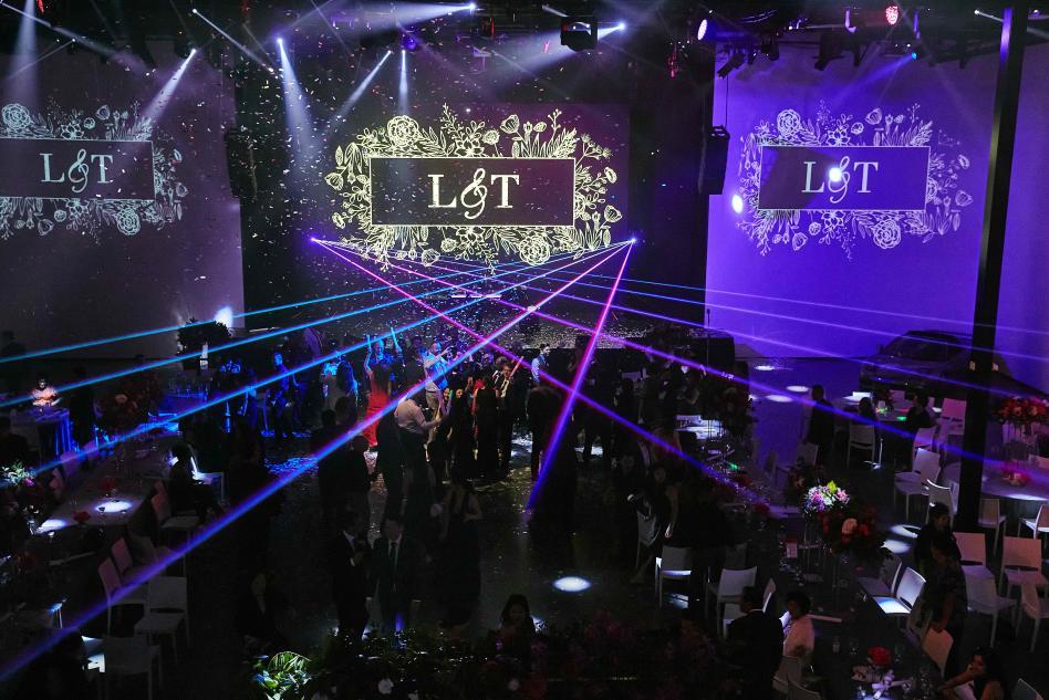 AV Irvine Laser Lights Wedding