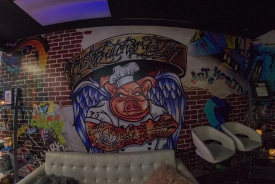 Butchershop wall