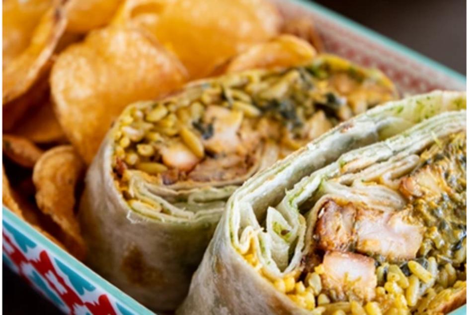 Maast Indian burrito