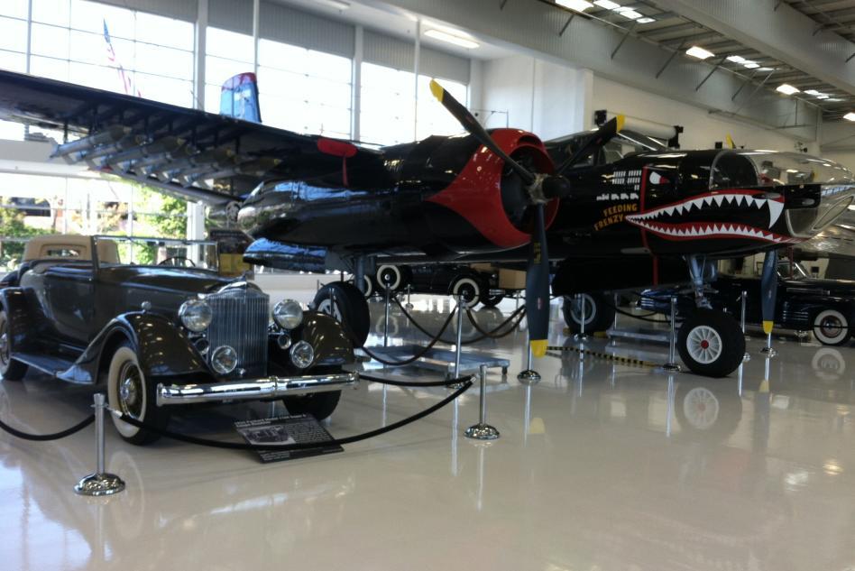 lyon air car and a plane
