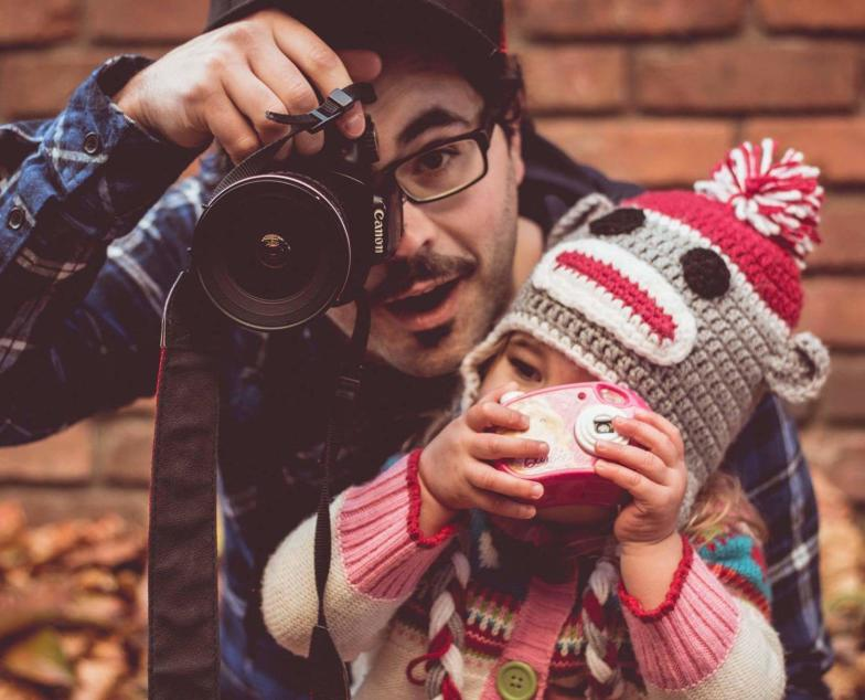 Matt & Daughter with Cameras