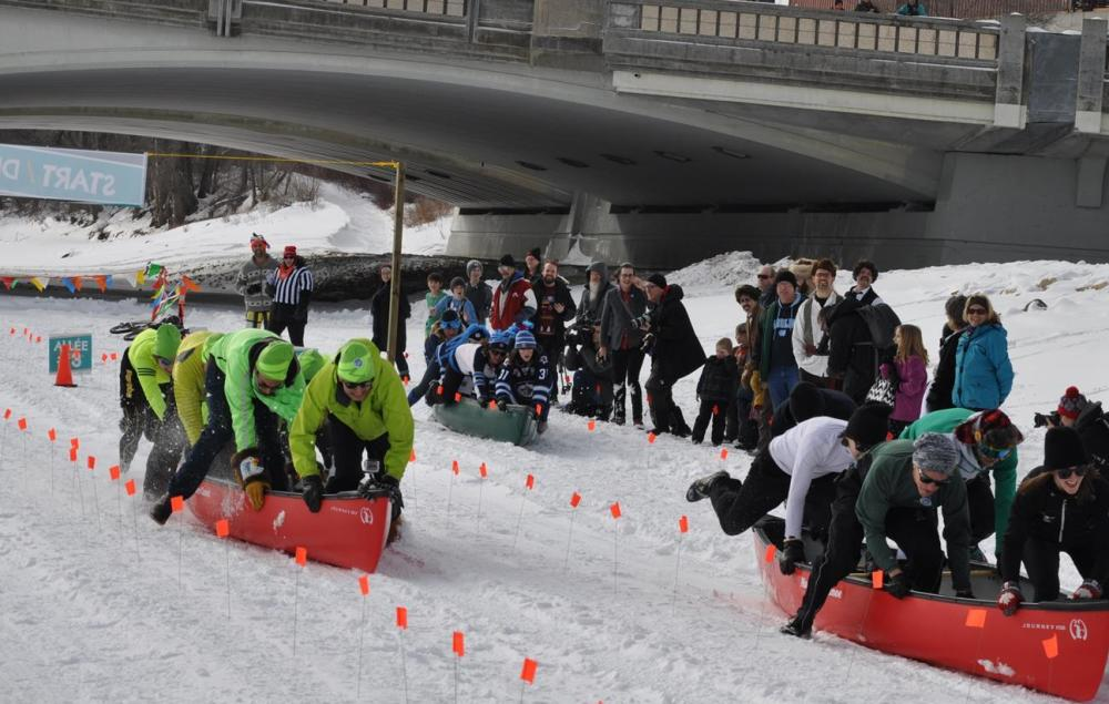 Inclusion Winnipeg's Wild Winter Canoe Race at The Forks
