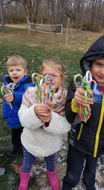 Take the family out to the Candy Cane Hunt at Natural Valley Ranch (photo courtesy of Natural Valley Ranch Facebook page)