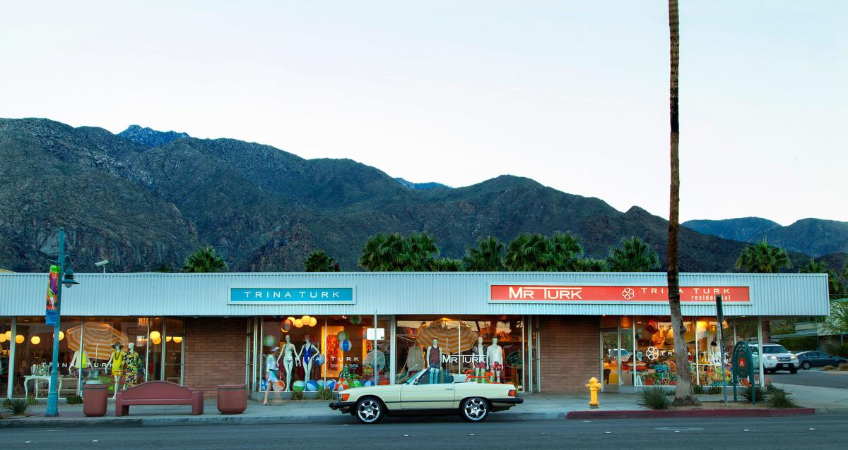 Store fronts in Downtown Palm Springs