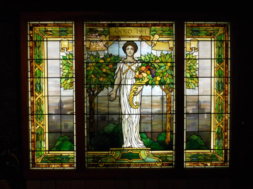 Sonnenberg Gardens & Mansion State Historic Park Wine Center stained glass window
