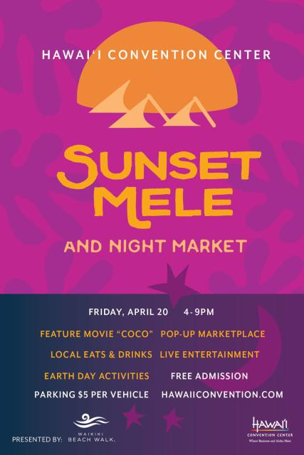 Sunset Mele Flyer
