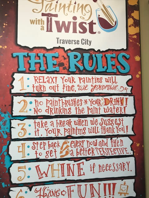 The Rules at Painting with a Twist