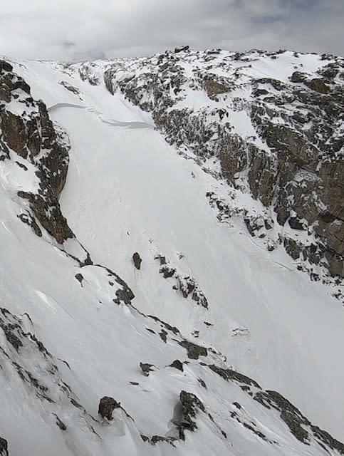 Dead Elk Couloir Avalanche