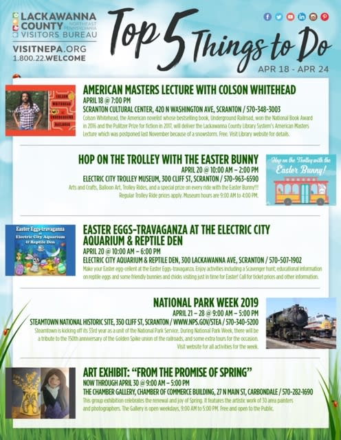 Weekly Top 5 Things to Do in Lackawanna County, PA