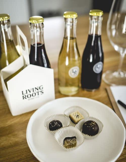 Living Roots Chocolate & Wine Pairing