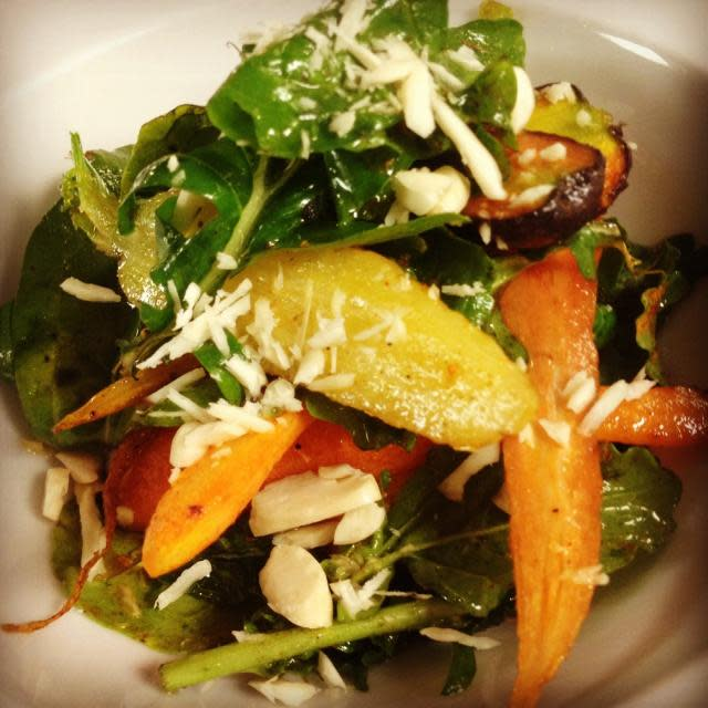 Downtown Sacramento restaurant Grange roast carrot and almond salad
