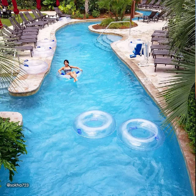 Lazy River at L'Auberge Casino Resort