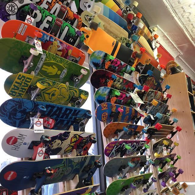 Skateboards at Underground