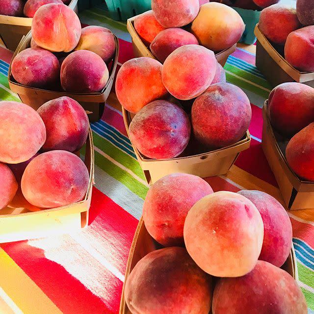 Peaches at Eno River Farmers Market