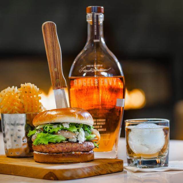 Bourbon Burger available in Greatroom & Bourbon Bar