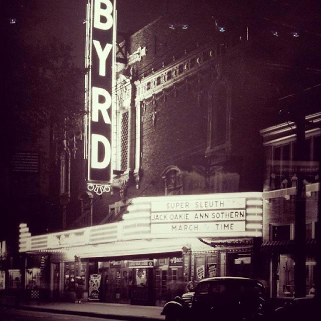 Byrd facade in 1937 at night