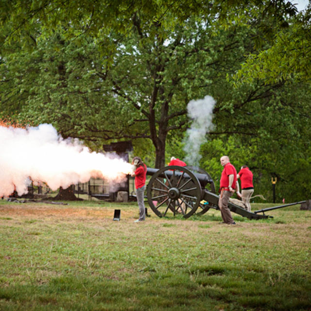 Cannon firing at Historic Tredegar