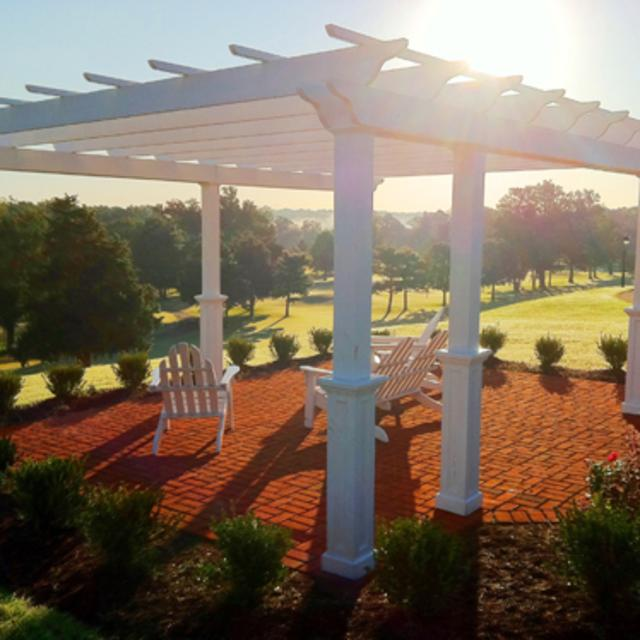 The Pergola overlooking The Crossings Golf Course