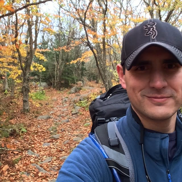Appalachian Trail Hiker - Fall Photo