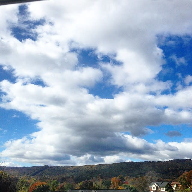 Cloudy Fall Sky - Fall Photo