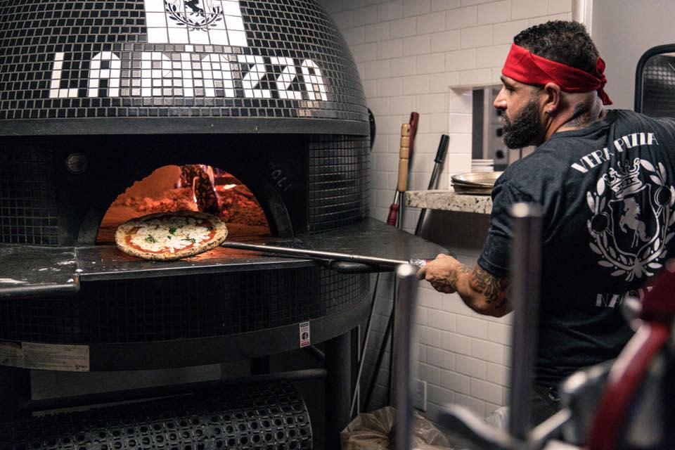 La Piazza Al Forno specializes in wood-fired pizzas certified by Verace Pizza Napoletana, a non-profit that has promoted the culture of Neapolitan pizza since the 1980s.