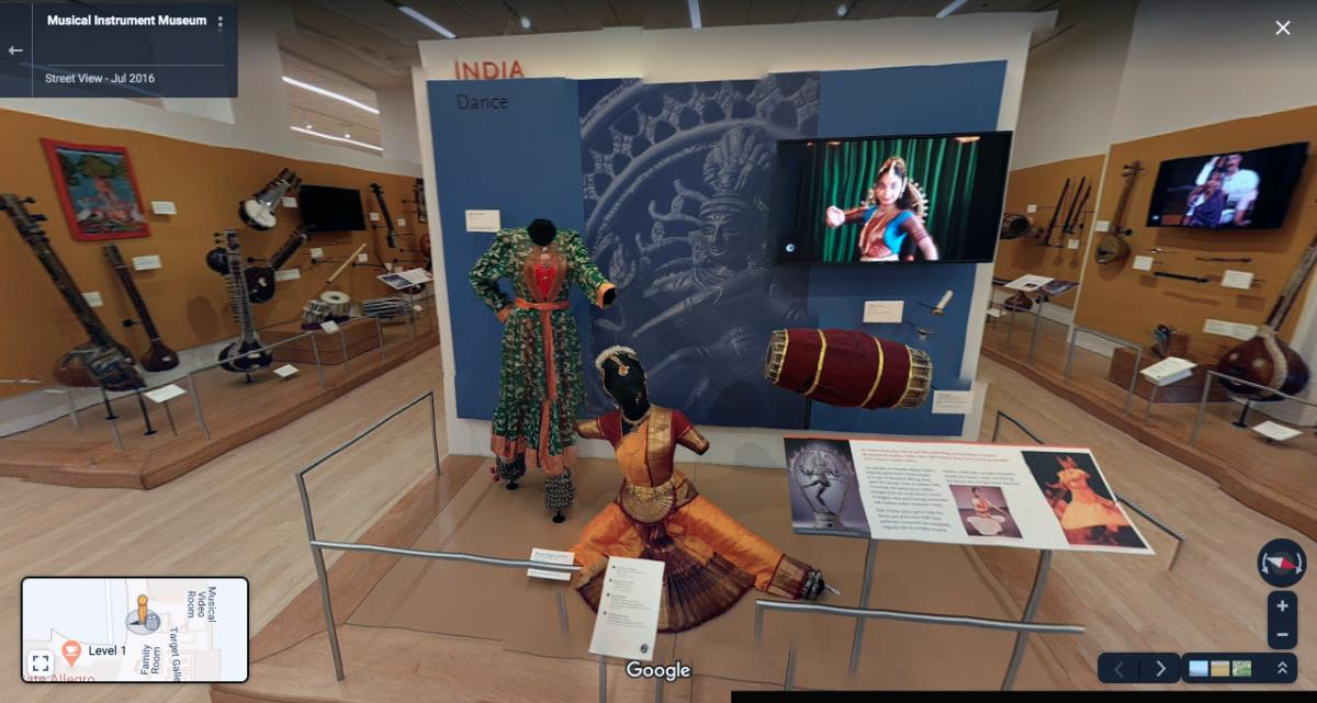 India exhibit at the Musical Instrument Museum Virtual Tour