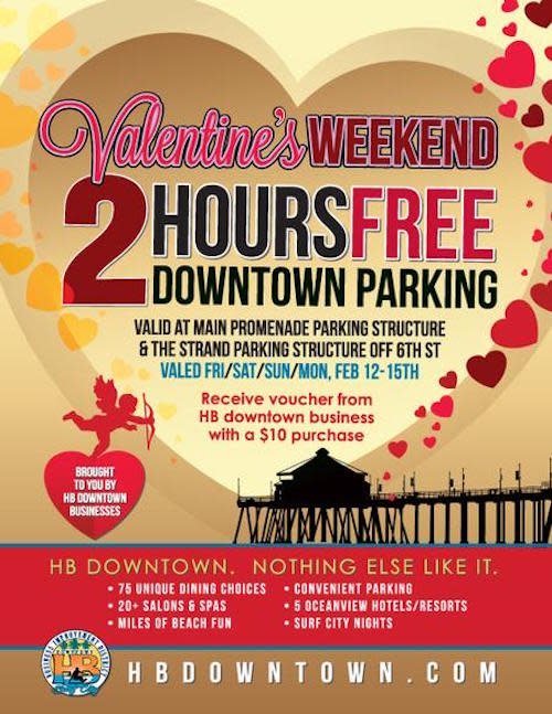 2 Hours of Free Parking in Downtown Huntington Beach