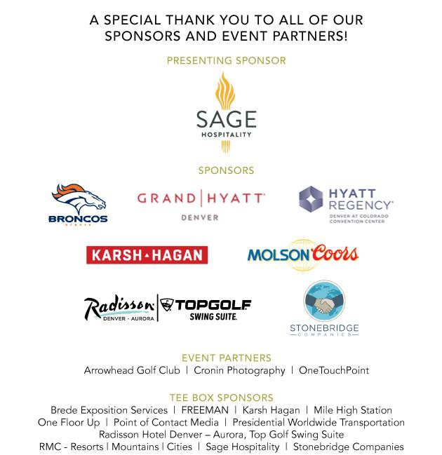 2019 Golf Sponsors