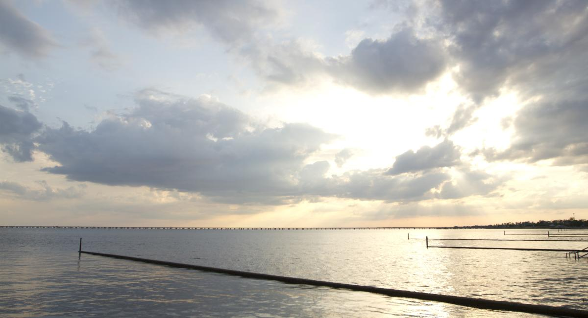 Seawall in Mandeville of Lake Pontchartrain
