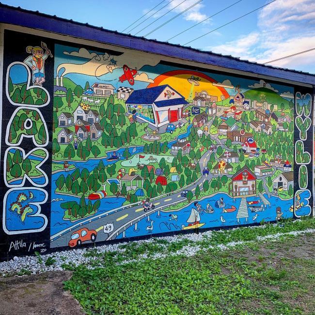 lake wylie mural