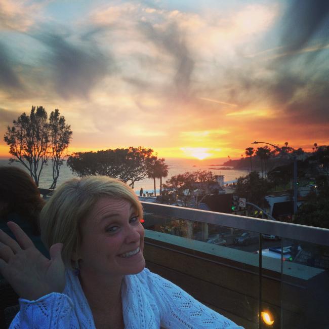 Woman at Skyloft - Sunset View