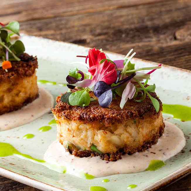 Bluewater Grill crab cakes