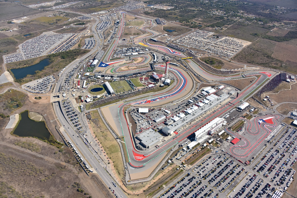 racetrack at Circuit of The Americas in austin texas