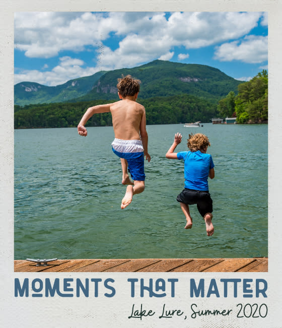 Moments that matter Lake Lure summer 2020