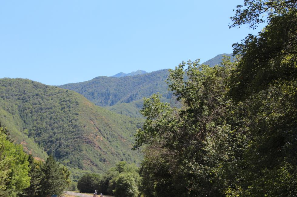 View of the Mountains from Hobble Creek Canyon Drive