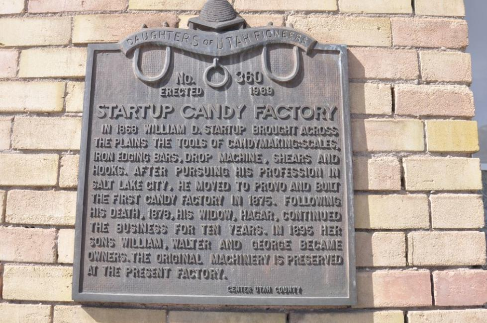 Startup's Candy Company Historical Marker