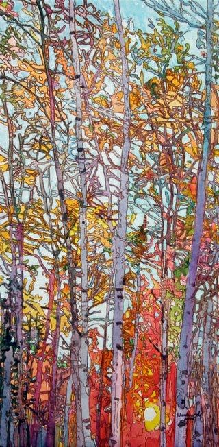 Tree Painting by Fairbanks Artist Kess Woodward