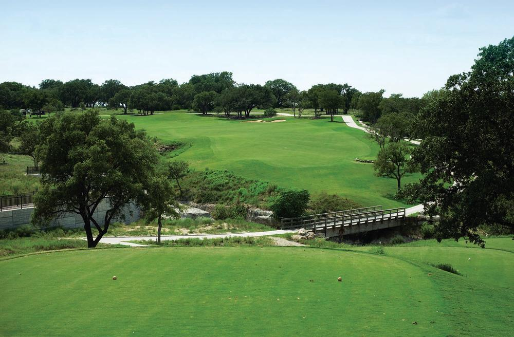 Hole number 7 at Avery Ranch Golf Course in Austin Texas