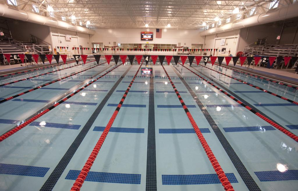 Inside the Graham Aquatic Center
