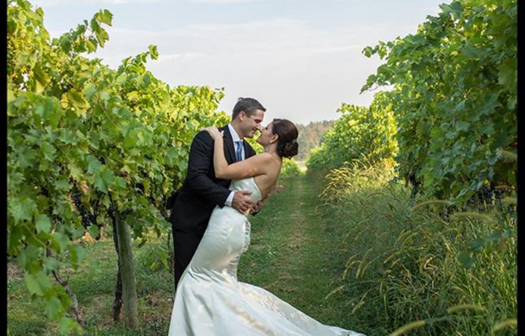 Vineyard Bride & Groom