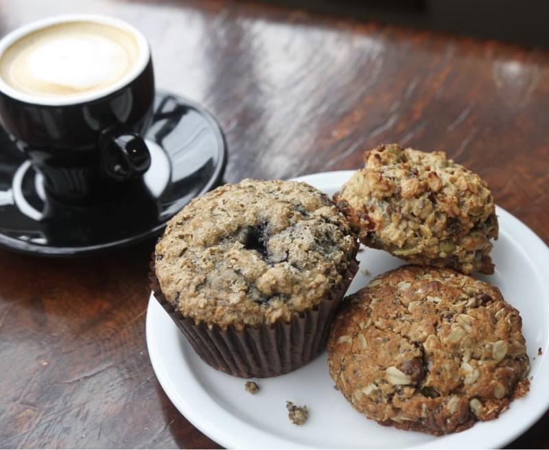 Muffins and cookies at Granola Coffeehouse in Half Moon Bay